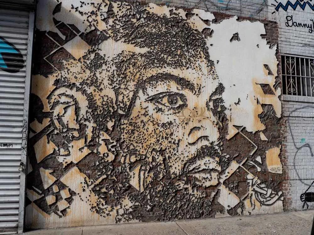 Vhils street art sculpture SoHo New York