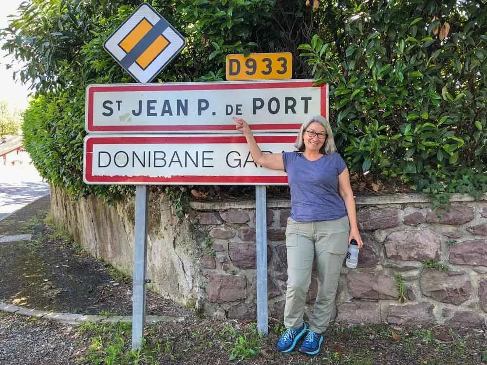 St Jean Pied de Port Camino de Santiago sign