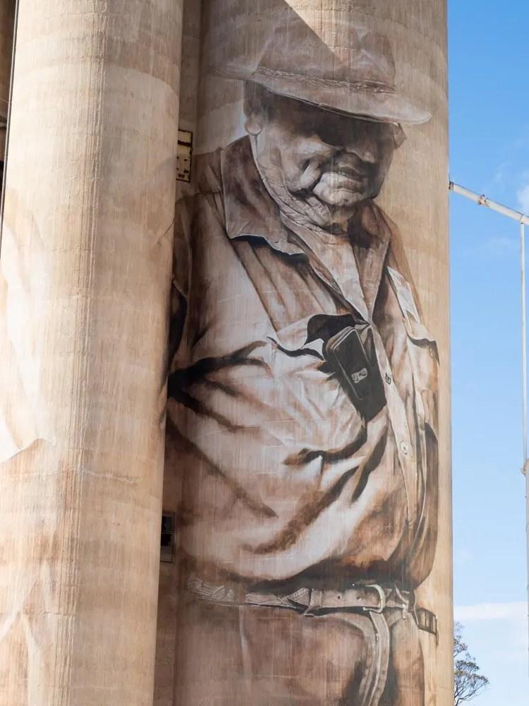 Brim silos Victoria Australia, Guido Van Helten