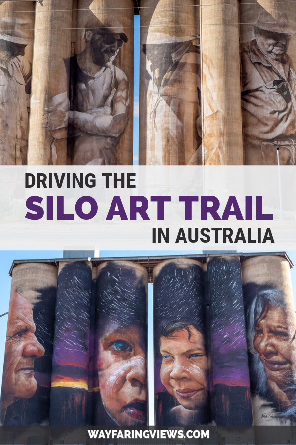 Painted Silos, Victoria Australia. Images of murals on grain silos
