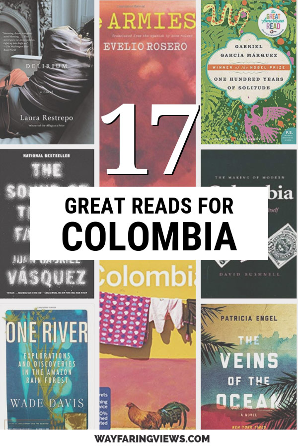 Reading list of books set in Colombia with book covers