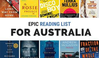 Books on Australia: reading list with book covers