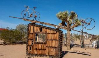 Joshua Tree California: Noah Purifoy sclulpture with bikes