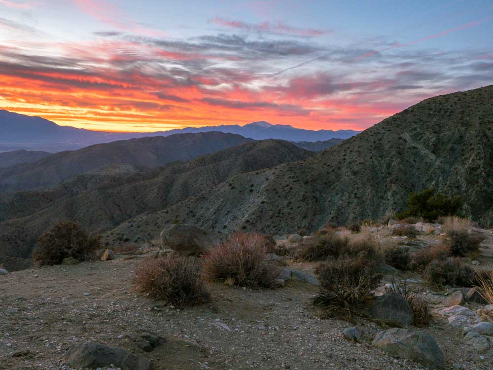 What to do in Joshua Tree National park: Keys View Sunset
