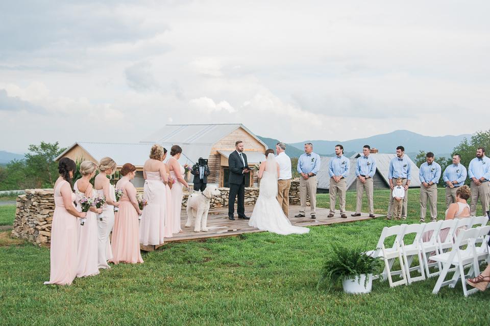 Overlook Barn Banner Elk, NC Wedding