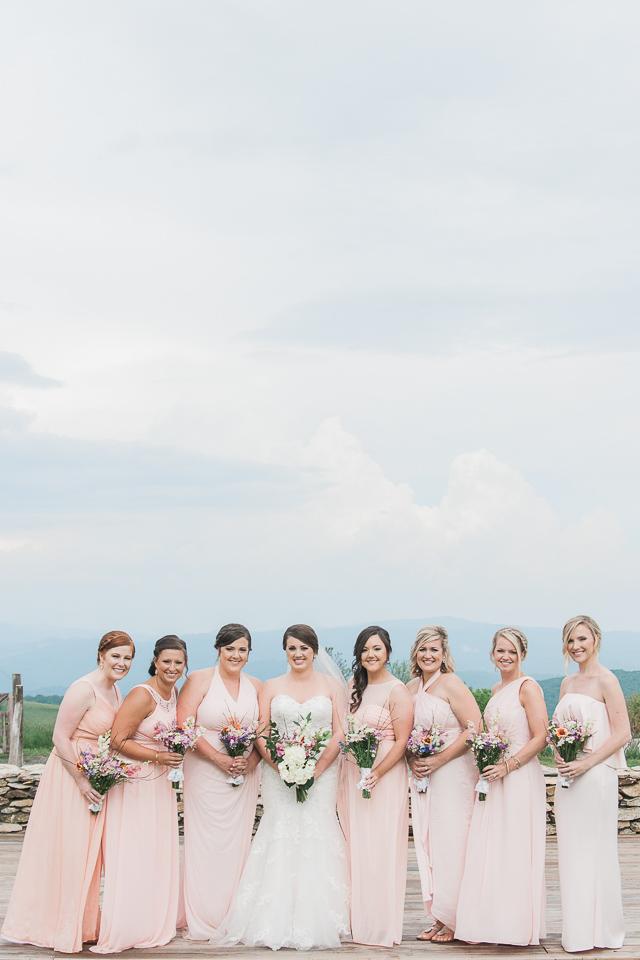 Overlook Barn Banner Elk, NC Wedding Bridesmaids