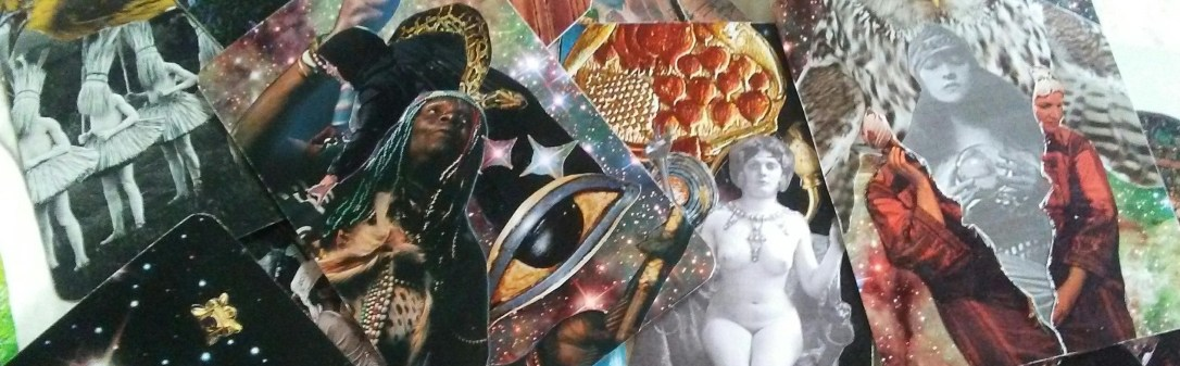 handmade tarot cards collage