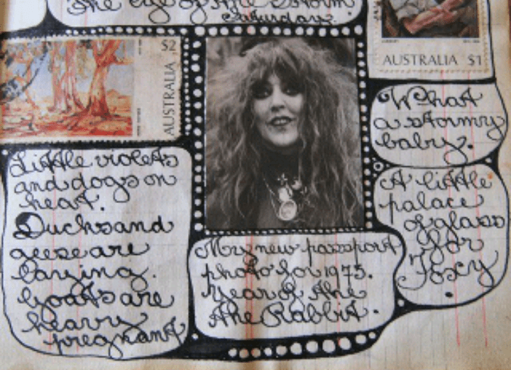 a page from Vali Myers journal