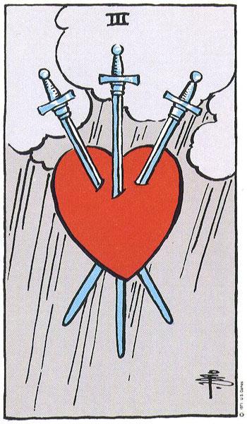Three of Swords Tarot Card