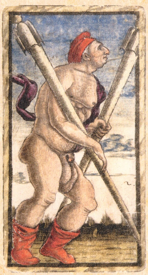 Sola Busca Tarot - The Two of Wands