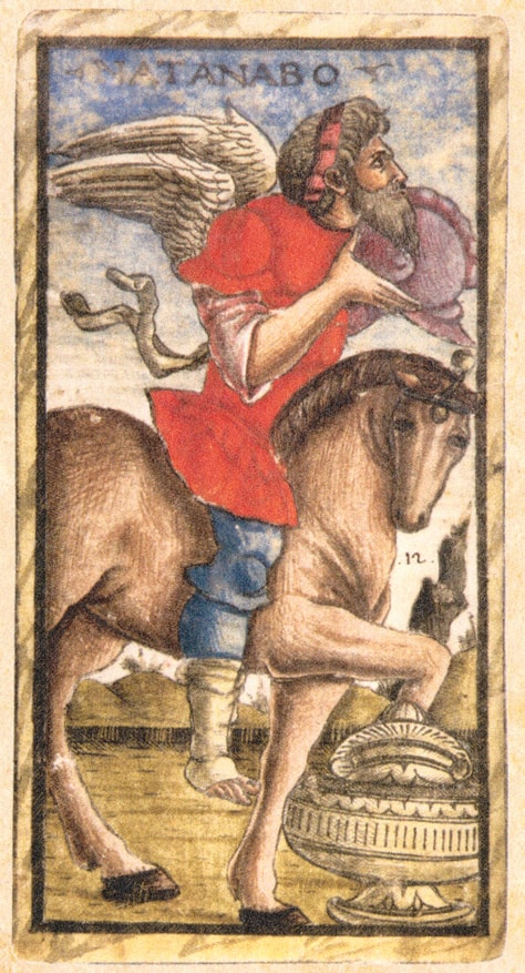 Sola Busca Tarot - The Knight of Cups