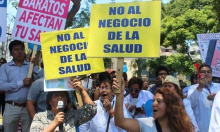 Cobertura: Marcha del Sector Salud