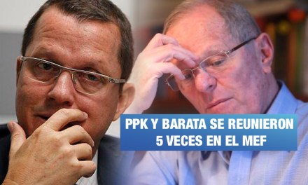 Barata y PPK se reunieron hasta 5 veces en el MEF