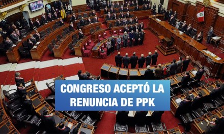 Congreso aprueba renuncia de PPK a la presidencia