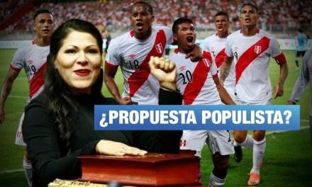 Congresista Yesenia Ponce propone declarar día del fútbol peruano