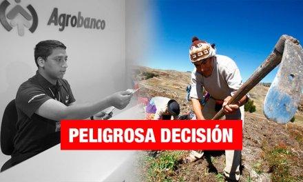 Gobierno anuncia cierre de Agrobanco