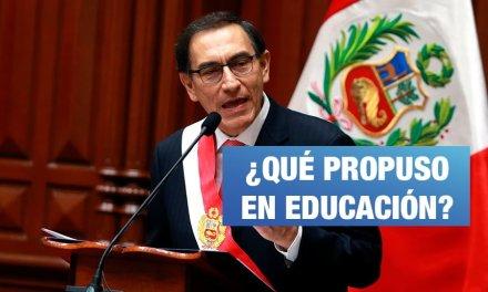 Cinco cosas que dijo (y no dijo) Vizcarra sobre educación