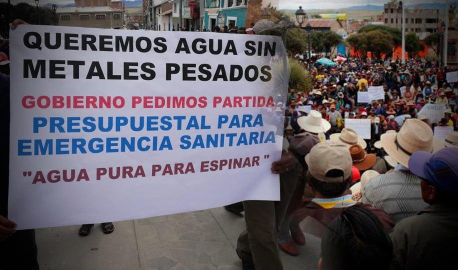 Comunidad de Espinar consume agua contaminada con cuatro metales pesados