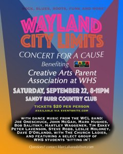 Wayland City Limits: Concert for a Cause @ Sandy Burr Country Club | Wayland | Massachusetts | United States