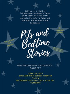 PJs and Bedtime Stories Concert @ Wayland High School Commons