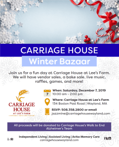 Winter Bazaar at Carriage House @ The Carriage House