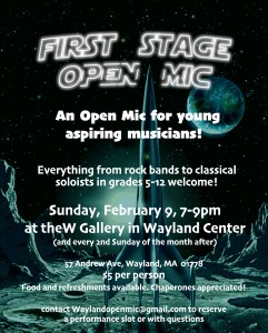 First Stage Open Mic Night @ The W Gallery