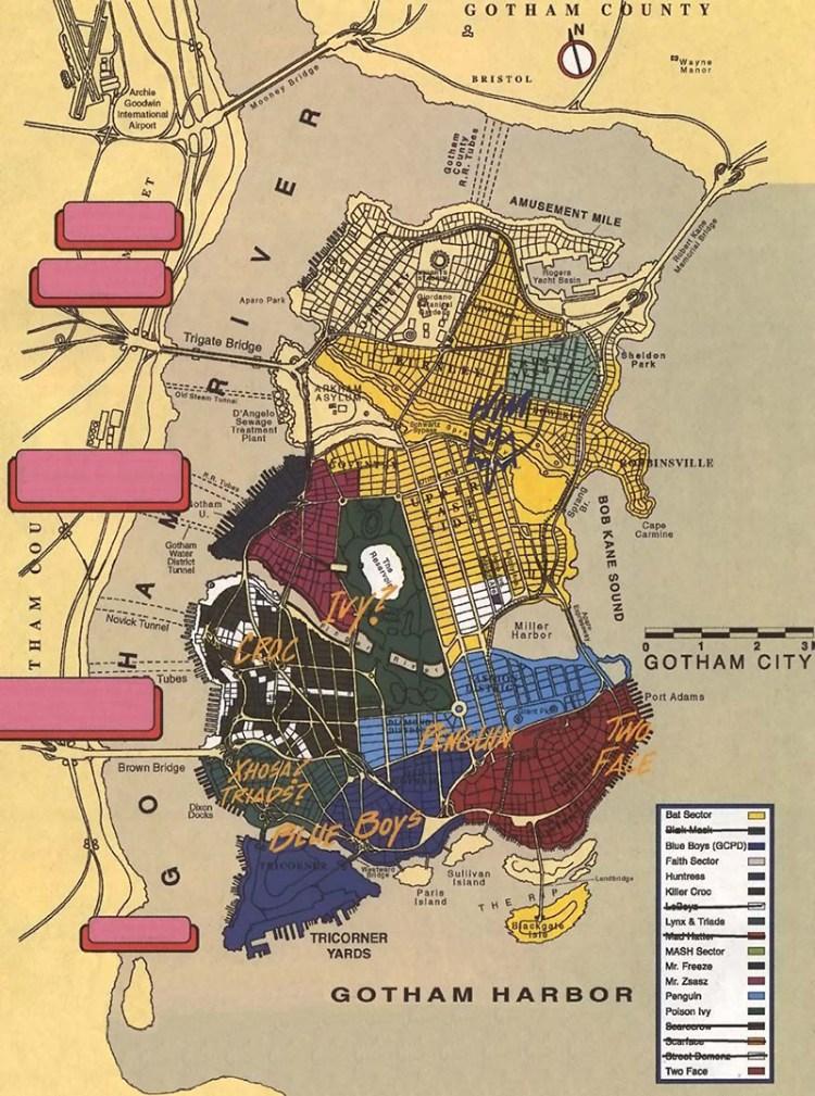 แผนที่กอธแทมใน 'No Man's Land Story'