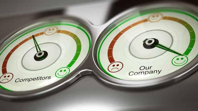 SEO Competitor Analysis Gauges