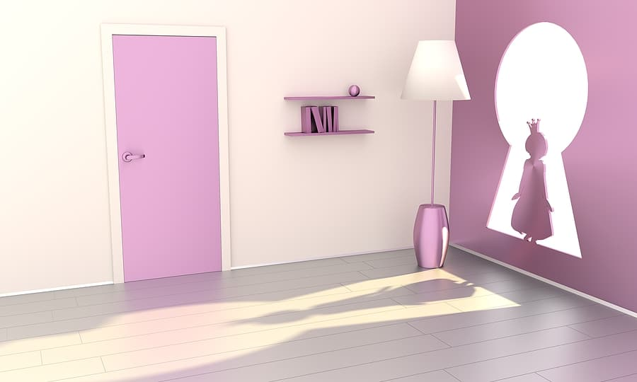 Entry to a room by another means image