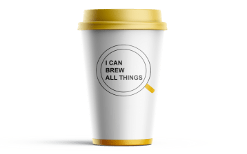 I can brew all things logo mockup for christian coffee shop
