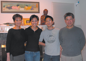 Luu Family-Hoping to someday return to Vietnam to visit family. It would be their first visit since the war. (L-R) Anh, Janette, Kenneth, and Long Luu.