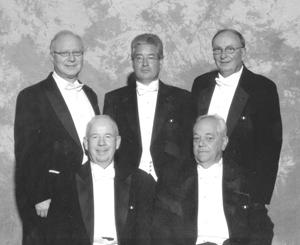 Those from Fort Wayne, Indiana were (left to right): Front Row: Jay B. Allen, 1330 Evergreen Road, Huntington, Supervisor Court Security, Henry E. LaHurreau, 5458E. 500S., Columbia City, Verizon Telephone Technician Back Row: Joshua I. Tourkow, 7022 Winchester Road, Fort Wayne, Attorney, Gregory C. Walbridge, 6626 W. Hamilton Road, Fort Wayne, Real Estate Developer, Mervin J. Johnson, 9490 S. 800 E-92, Roanoke, Consultant/Retired Bank President.