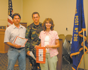 Blue Stars Flying High with the Blacksnake's. Christopher Baber (center) and his parents from Auburn, IN.