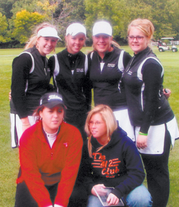 Lady Knight Linksters 2007 Team includes: Front Row L-R: Erin Springer and Morgan Eckert Back Row L-R: Chelsea Pritchard, Kristi O'Brien, Heather Hendrickson and Haylee Eckert
