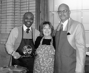 The Wayne Township Trustee's Office took first place with the Trustee's Chili at the Soup Cook-Off for the Brenda Hanchar Foundation. Pictured at the Cook-Off are from left Trustee Richard Stevenson, Legal Services Director Karen Walker and Deputy Trustee LeRoy Page.