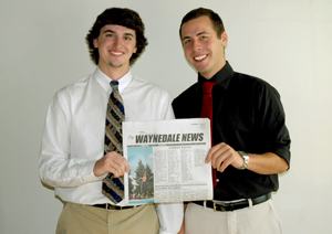 Michael Alberico (left) and Alex Cornwell (right) new publishers of your hometown paper, The Waynedale News.