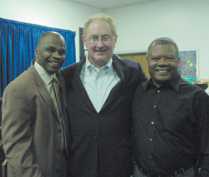 (L-R) Trustee Richard Stevenson, Bruce Stier and Allen County Democratic Party Chair Mike Bynum.