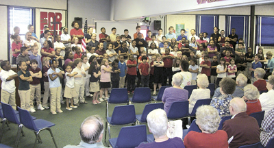THE JUBILEE CHOIR ENTERTAINS