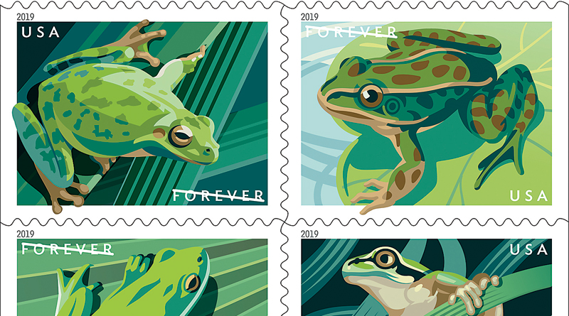 POSTAL SERVICE CELEBRATES FOUR AMERICAN FROG SPECIES – The