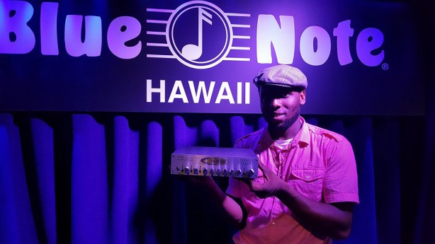 Bassist Shelley Shellz at a gig at Blue Note Hawaii with Davell Crawford - The Prince Of New Orleans, Sept 12