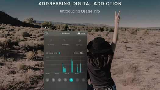Vero provides you with your own stats usage.