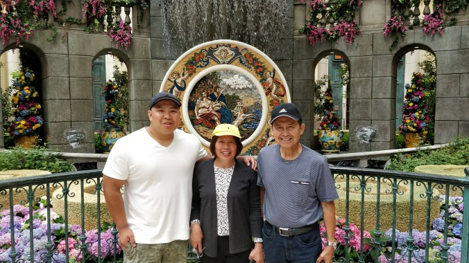 My parents at the Bellagio Conservatory & Botanical Gardens
