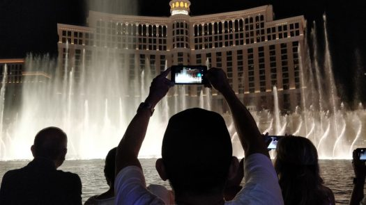My Dad catching the Fountains of Bellagio show