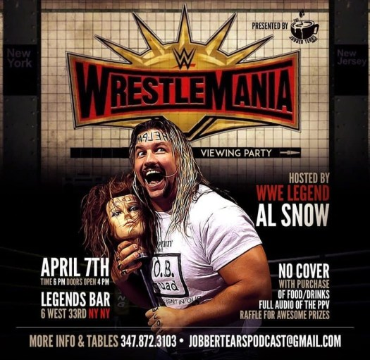 WrestleMania 35 Viewing Party flyer
