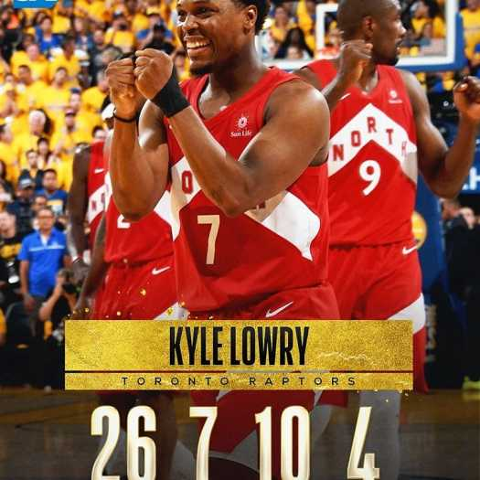 Raptor favourite Kyle Lowry came up big in Game 6.