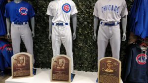 Chicago Cubs uniforms and its Hall of Fame legends.