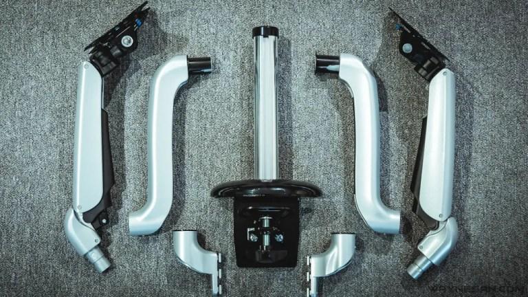 iErgoArm® 延伸軸 氣壓式 雙螢幕支架 3
