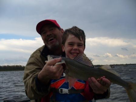 Wyatt finally held a fish