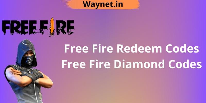 Free Fire Redeem Codes, Free Fire Diamond Codes