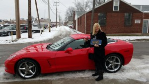 Dawn and her 2012 Corvette